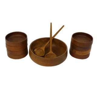 Laurids Lonborg Danish Teak Salad Set - 11 Pieces