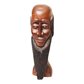 Vintage Hand Carved African Wood Sculpture