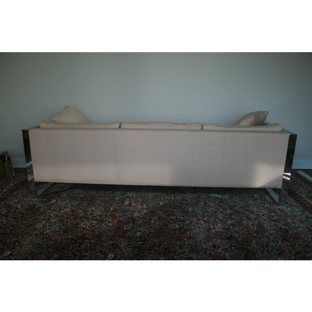 Image of Milo Baughman Chrome Sofa and Loveseat