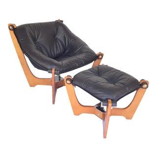 Danish Modern Luna Chair & Ottoman