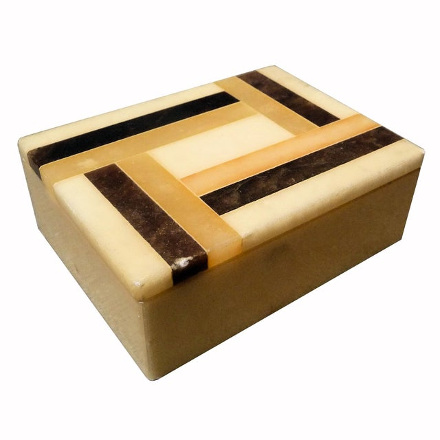 Vintage Italian Alabaster Box - Image 1 of 4