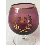 Image of Colored Glass Crested Brandy Snifters - Set of 6
