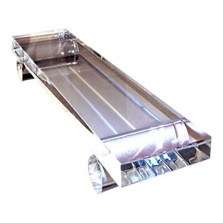 Clear Lucite Rods Tray