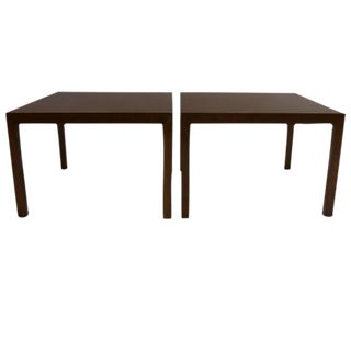 Pair of Edward Wormley for Dunbar Parsons Tables in Dark Mahogany