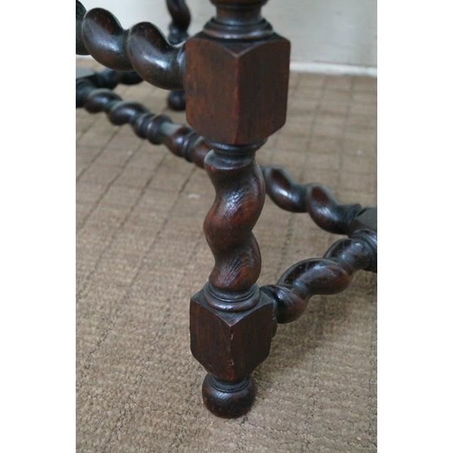 Antique Oak Lion Barley Twist Armchairs - A Pair - Image 7 of 10