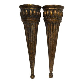 Wall Hung Vases - a Pair