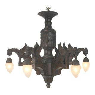 Griffin Style Wooden Chandelier