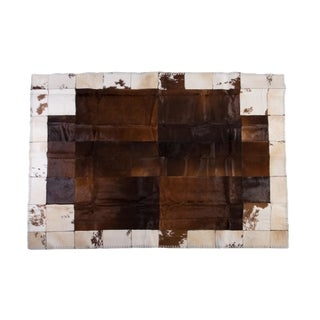 """Aydin Cowhide Patchwork Accent Area Rug - 8'9"""" x 6'3"""""""