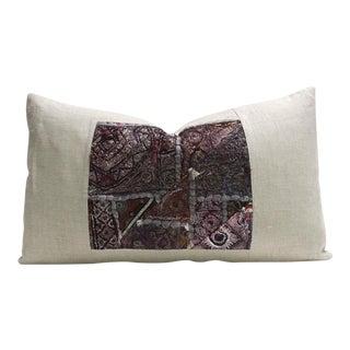 Niya Metallic Embroidered Lumbar Pillow