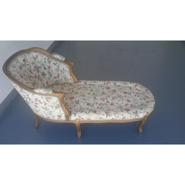 vintage louis xv style french country chaise lounge chairish. Black Bedroom Furniture Sets. Home Design Ideas