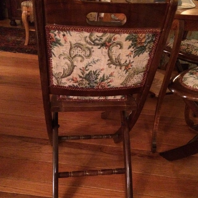Vintage Victorian Style Campaign Parlor Chairs - Set of 4 - Image 11 of 11
