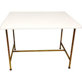 Paul Mccobb Minimalist Milk Glass Side Table
