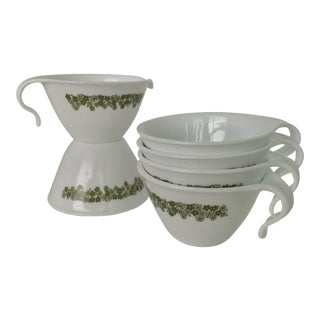 Pyrex Crazy Daisy Tea Cups - Set of 6
