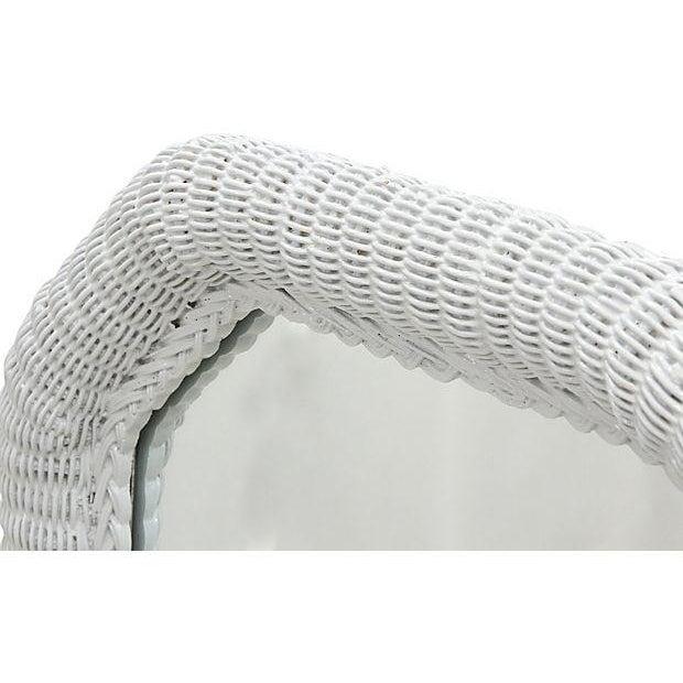 Light Gray Rattan Floor Mirror - Image 2 of 6