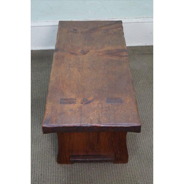 Rustic Slab Wood Coffee Table - Image 4 of 10