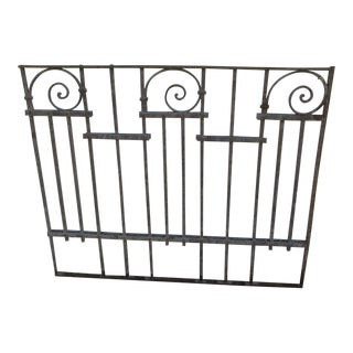 Antique Victorian Iron Gate Window Garden Fence Architectural Salvage Door #018