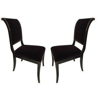 Kindel Sleigh Back Side Chairs - A Pair
