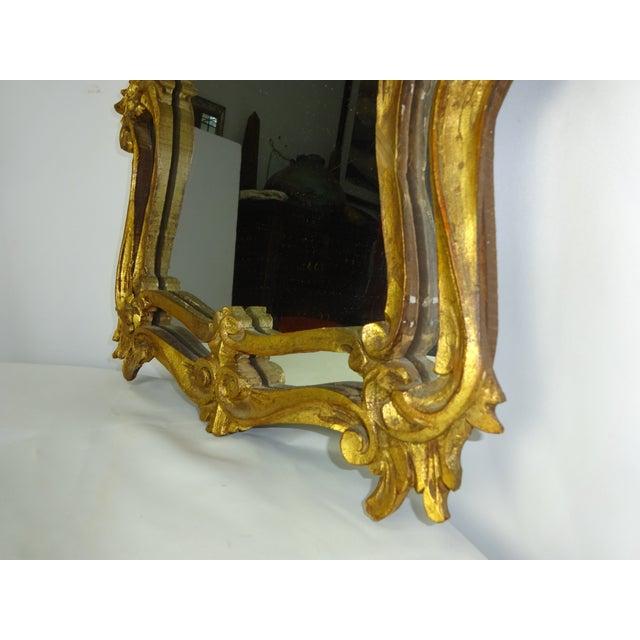 Italian Gilt Carved Louis XV Mirror - Image 7 of 9