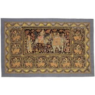 RugsinDallas Myanmar Embroidered Kalaga Tapestry