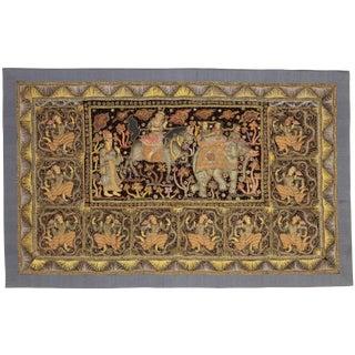 RugsinDallas Myanmar Embroidered Kalaga Tapestry