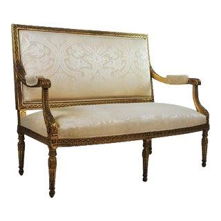 Louis XVI Gilded Settee