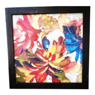 Vintage Boho Abstract Floral Painting