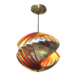 "Louis Weisdorf ""Conch"" Mid-Century Modern Pendant Light"