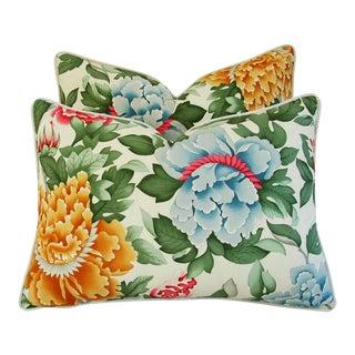 Designer Brunschwig & Fils Lahore Pillows - a Pair