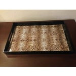 Image of Leopard and Black Lacquer Tray