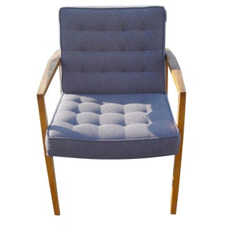 Knoll Vincent Cafiero Blue Gray Lounge Chair