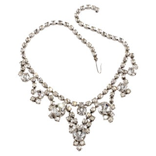 50s Clear Rhinestone Necklace