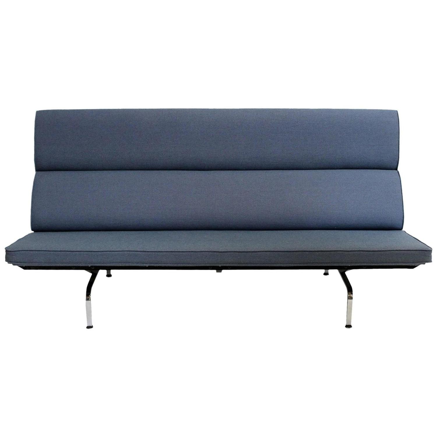 eames for herman miller compact sofa chairish