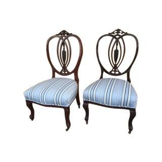 Mahogany English Child Chair - Pair