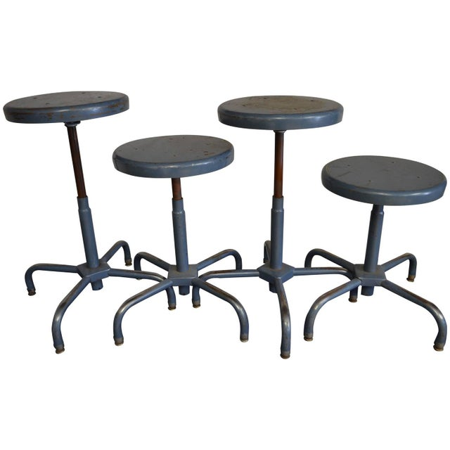 Image of Industrial Adjusting Stools - S/4 - 32 Available
