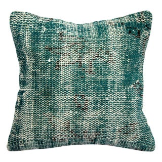 Emerald Handmade Turkish Kilim Pillow Cover
