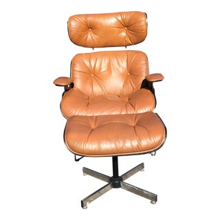 Plycraft Eames Style Lounge Chair & Ottoman - A Pair