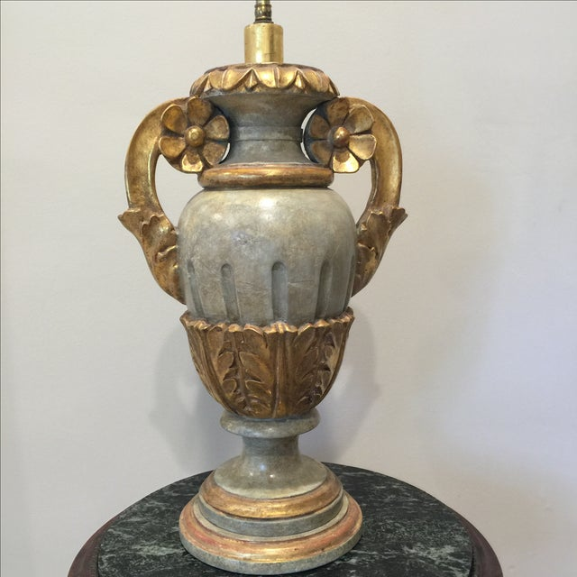 Vintage Italian Painted Urn Form Table Lamp - Image 4 of 9