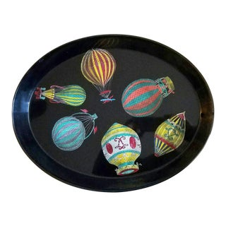 Piero Fornasetti Palloni Hot Air Balloons Metal Tray, 1950's