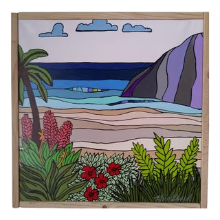 """Green Hawaii"" Original Block Art by Kris Gould"