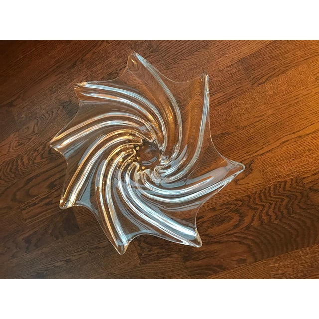 Vannes le Chatel French Crystal Spiral Bowl - Image 2 of 5