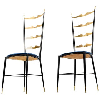 Pair of Chiavari Italian Chairs