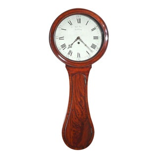 Samuel Sly (1770-1842): George III Mahogany 8-day Dial Clock