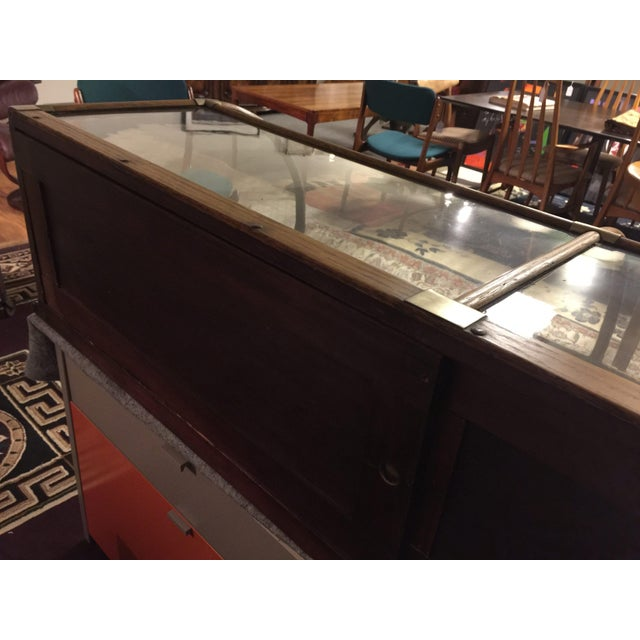 Antique Mercantile Curved Glass Display Case - Image 5 of 7