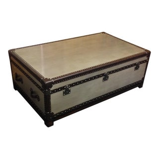Silver Leaf Hardwood Trunk Style Table