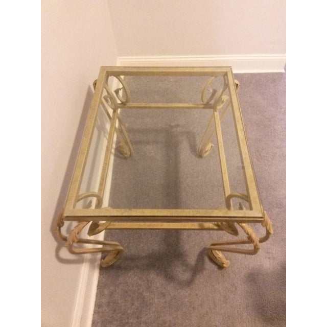 Antique Gold Coffee Table: Antique Gold Leaf Coffee Table