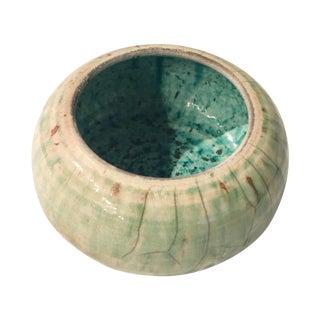 Vintage Aqua Ceramic Bowl
