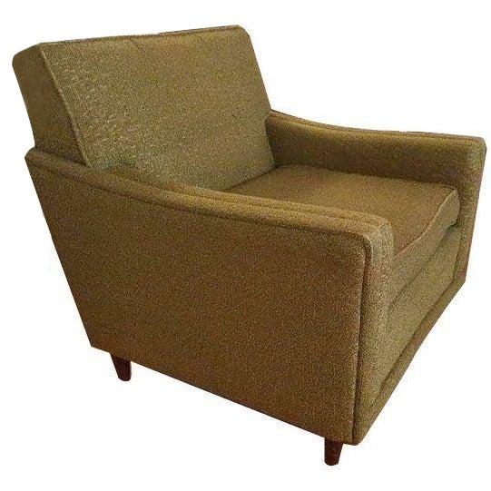 Mid Century Modern Armchairs: Mid-Century Modern Green Armchair
