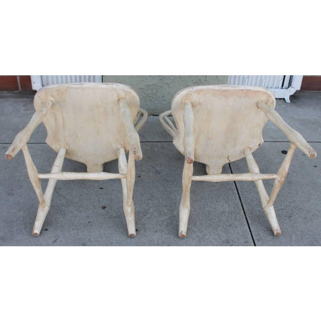 Image of Pair of 19th Century White Painted Windsor Chairs