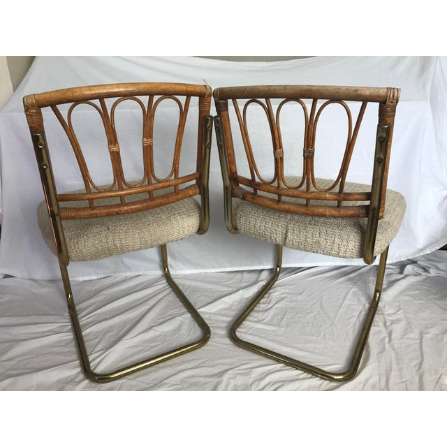 Douglas Furniture: Douglas Furniture Chrome Cantilever Bamboo Chenille Seats