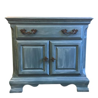 Coastal Blue Cabinet With Drawer